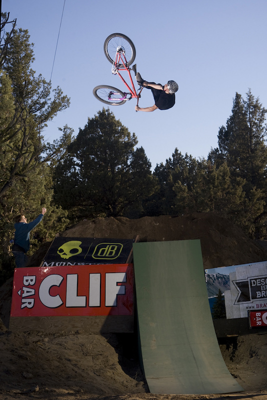 A taco'd front wheel and multiple slams can't keep this kid down, Anthony Messere getting down and dirty with a flip double whip at UDUG 2011
