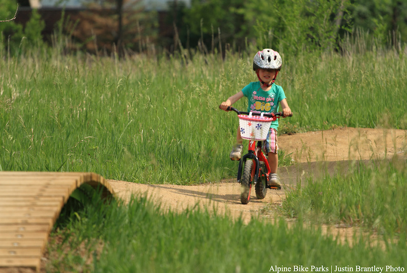 This little girl is stoked to be riding