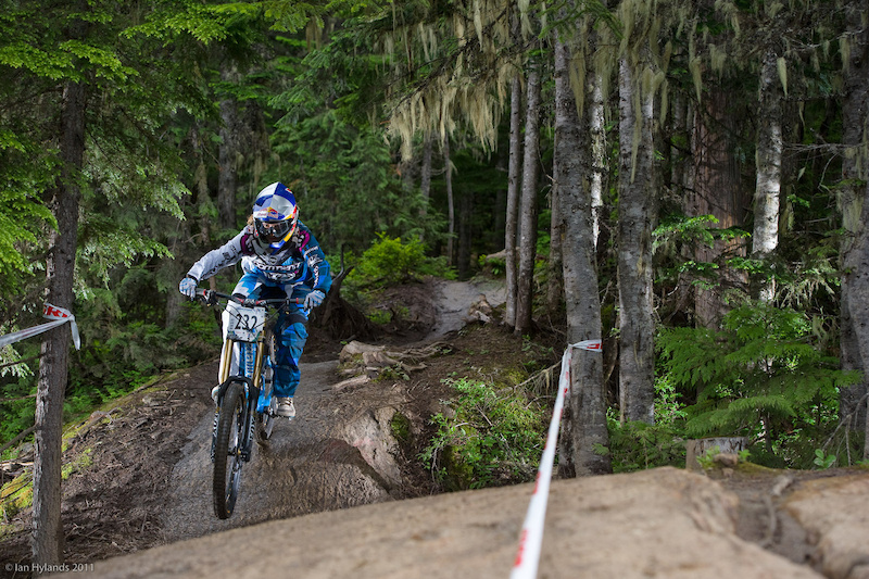Rachel Atherton on her way to winning the Canadian Open DH