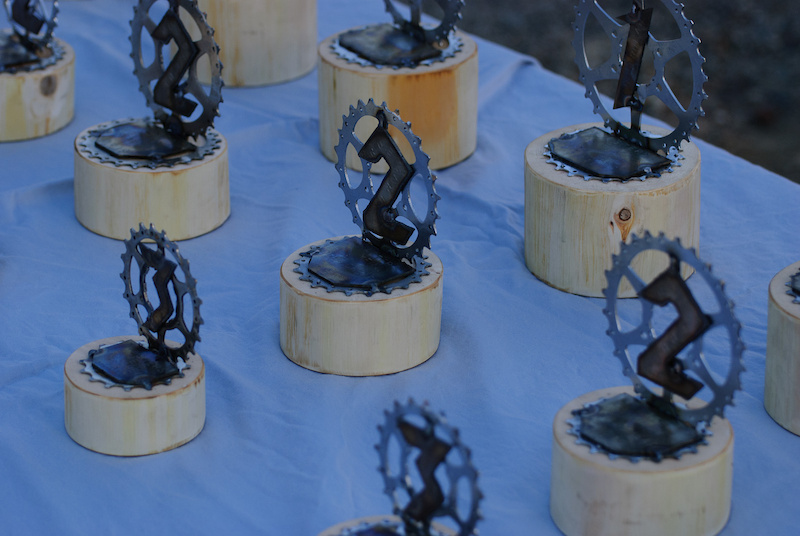 Mofab volunteering his metalworking talents with these fantastic trophies.