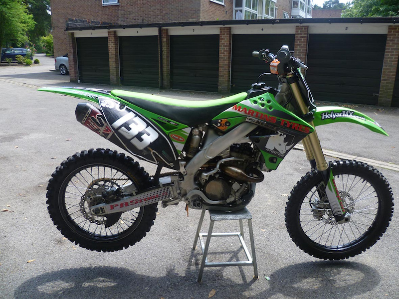 2009 motocross kawasaki kxf 250 trick clean bike for sale. Black Bedroom Furniture Sets. Home Design Ideas