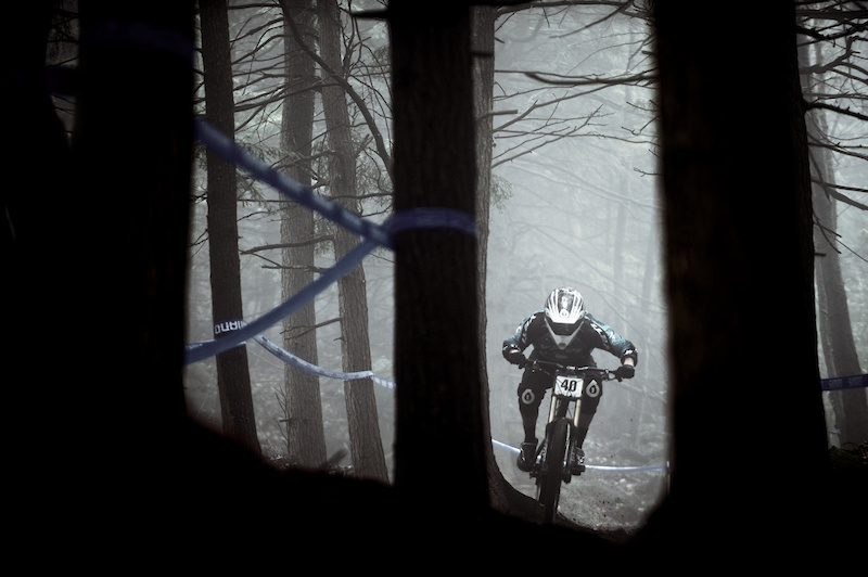 Second round of the 2011 Pro GRT at Highland Mountain Bike Park. Photo By Bear Cieri 5 15 11 Northfield NH