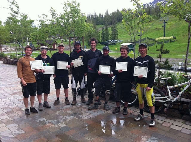 The Level 2 certified crew at Kicking Horse Mountain Resort 2011.
