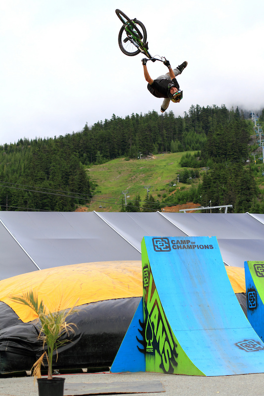 Flip Indianair whip at the Camp of Champs airbag.