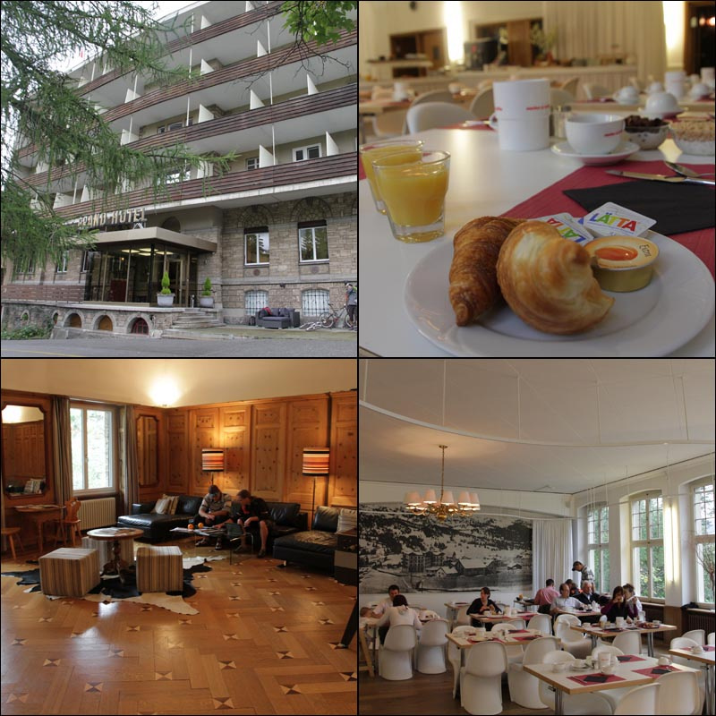 Comfortable homey accommodations and good food at the Hotel Kurhaus in Lenzerheide Post one of the resorts many bike hotels.