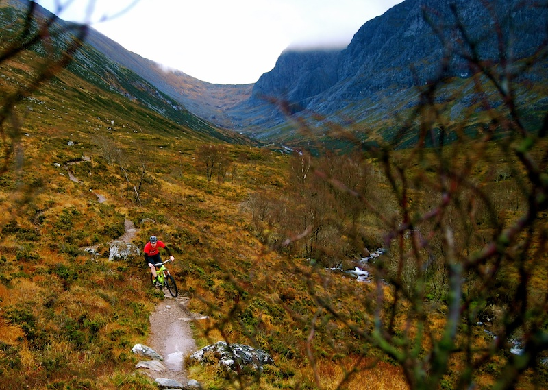 An awesome autumn ride on the hiker trails round Fort William Photo - Bob Hyde