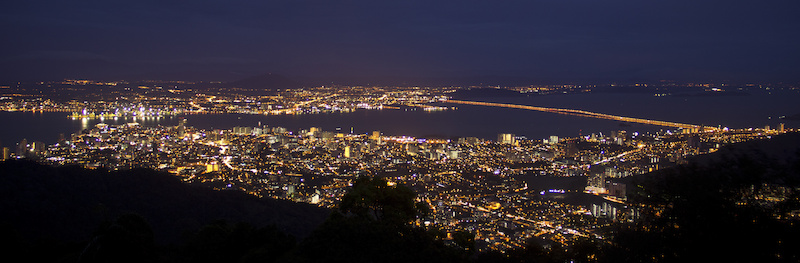 night view from Penang hill