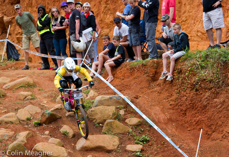 Tracey Hannah picking right back up where she left off with a win at the Pietermaritzburg UCI World Cup DH