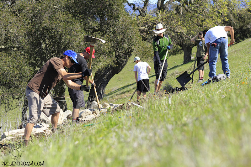 Trail work day at Los Olivos Dirt Club in California. For more info please visit www.projektroam.com