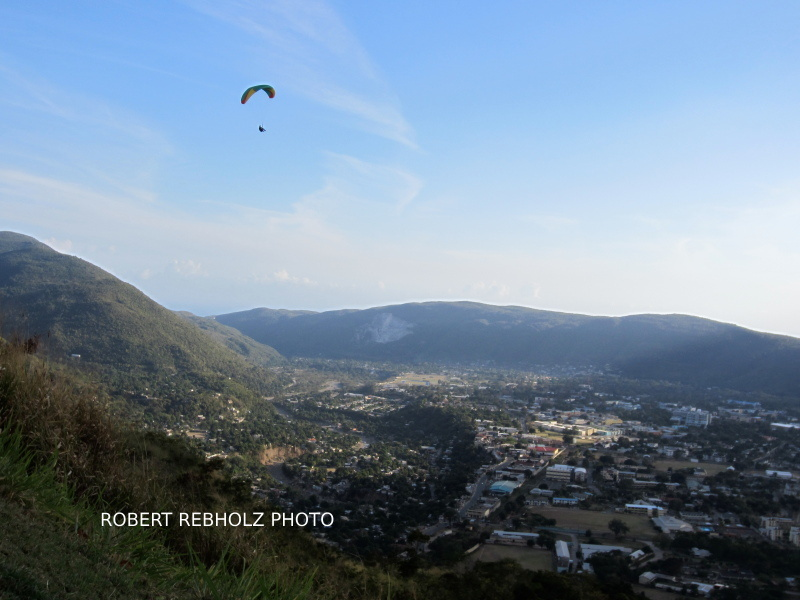 Paragliding over Kingston
