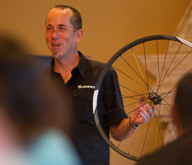 Bill Miller goes over the fine points of Giant's new wheels