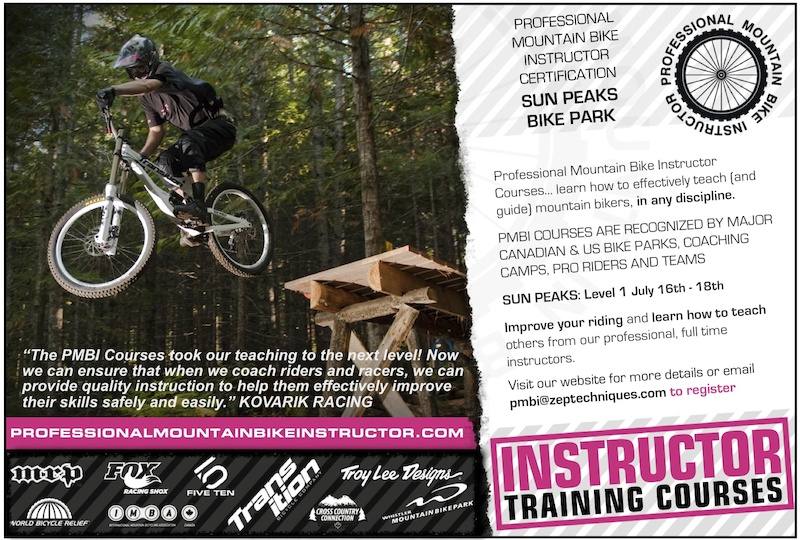 Professional Mountain Bike Instructor Course Level 1