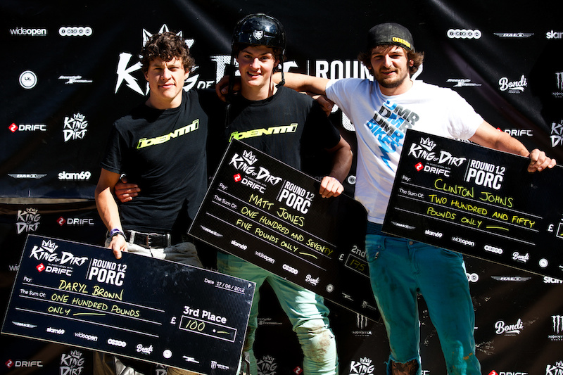 PRO Podium From Left to Right Daryl Brown Matt Jones amp Clinton Johns PHOTO Szymon Nieborak