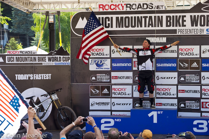 With this win Gwin has put an unheard of winning stamp on the World Cup circuit 9 of the last 12 races have been won by the Trek World Racing rider.