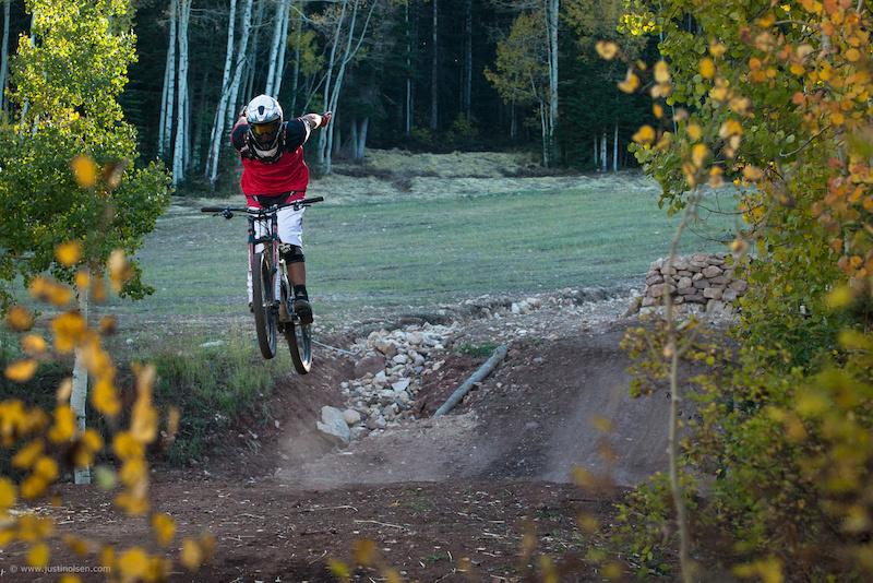 Porter shredding the Canyons Bike Park Fall 2011