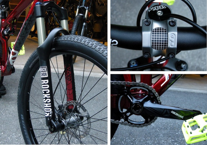 Specialized P-Slope Rockshox Argyle fork P-Series 35mm Stem with brake-hose pass through Truvativ Descendant crankset
