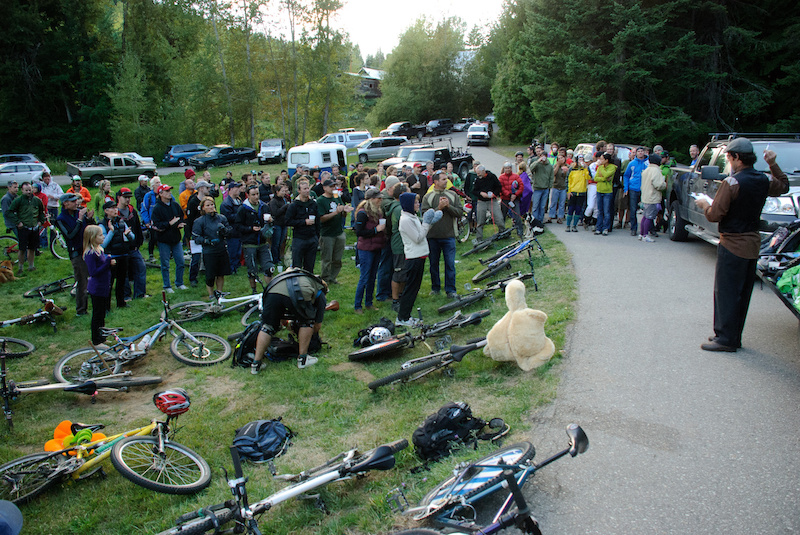 Seven Summits Poker Ride after party and awards. Going down Sept. 2 in Rossland BC. Photo Vince Boothe