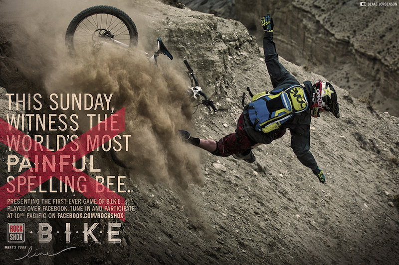 Presenting the first-ever game of B.I.K.E. played over Facebook. Tune in and participate at 10am Pacific on Facebook.com rockshox photo Blake Jorgenson