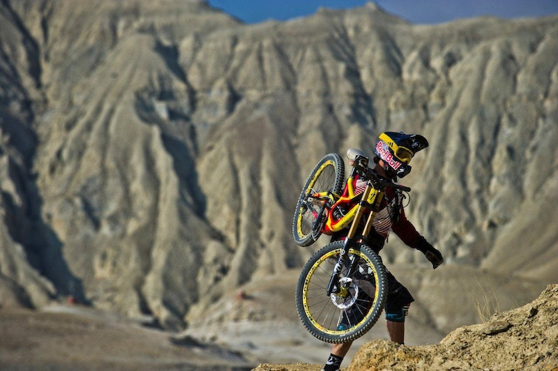 Darren Berrecloth hike amp bike during the shooting of Where the Trail Ends in Nepal
