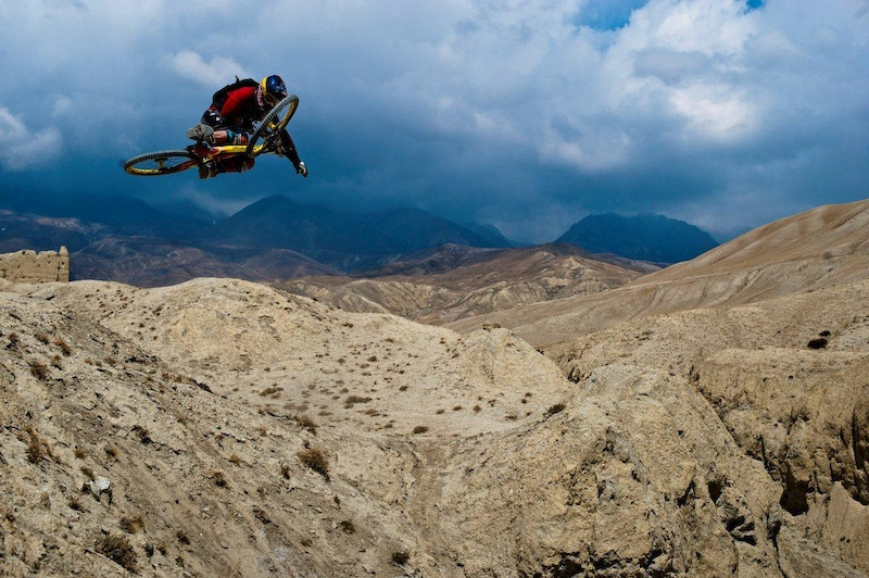 Darren Berrecloth in Nepal filming for Where the Trail Ends