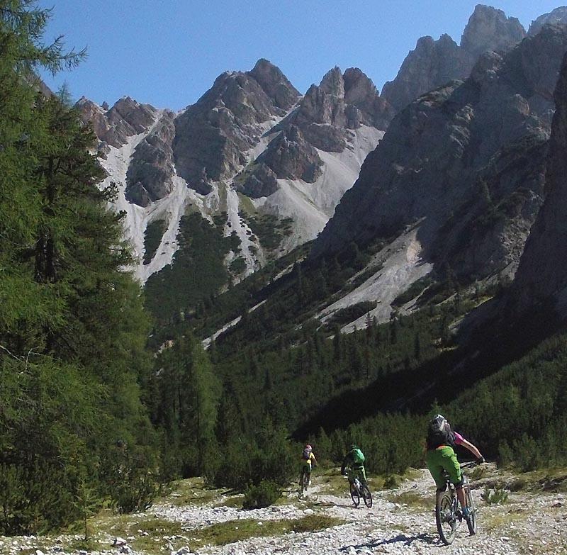 Surfing Dolomite trails