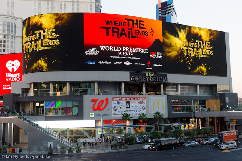 It's hard to find a bigger billboard anywhere in the world, and this one features HD Video screens. Welcome to Las Vegas!