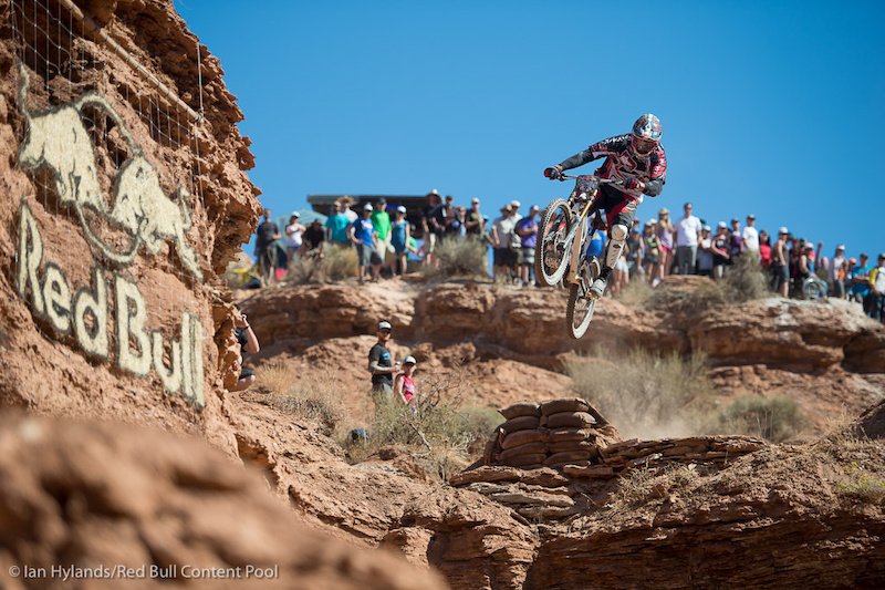 Thomas Vanderham rides in the finals at Red Bull Rampage in Virgin, Utah on 7 October, 2012