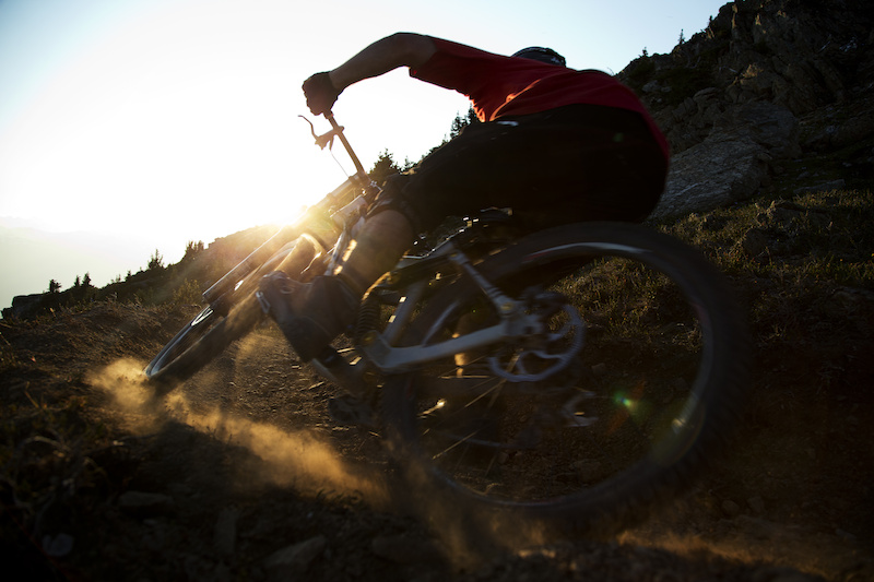 Mountain bike rider Dylan Sherrard is seen riding on Whistler mountain in Whistler B.C. Saturday August 11 2012. THE CANADIAN PRESS Jonathan Hayward