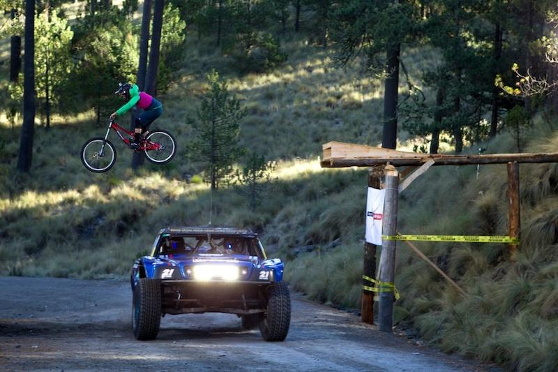 Holden jumping a baja truck in Mexico. Image by Mauricio Ramos via Facebook.