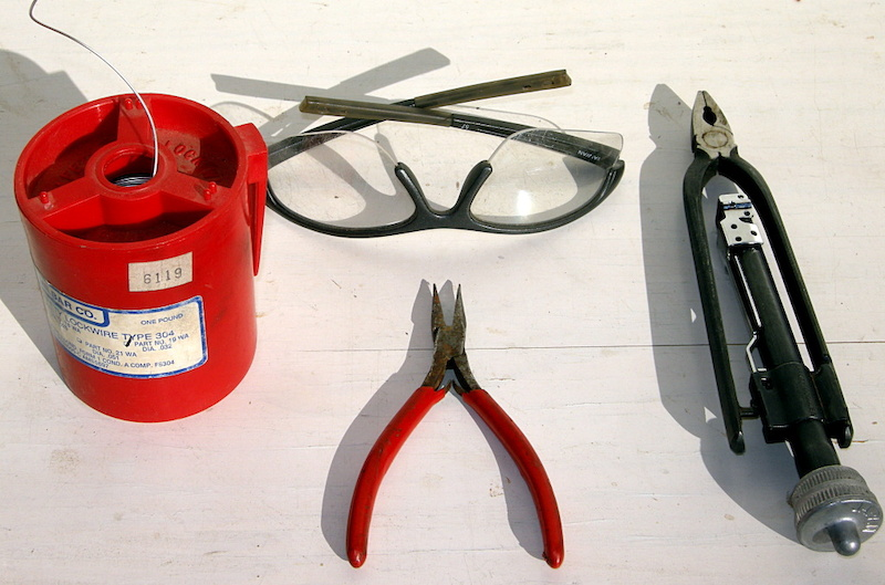 .041 stainless steel wire Safety Glasses Safety Wire Pliers Needle Nose pliers.
