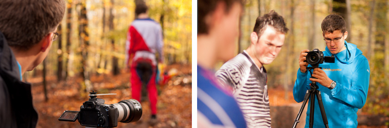 Daniel Schua filming.
