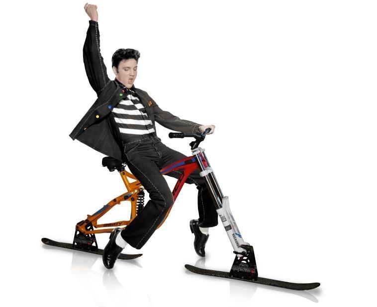 Elvis ski bike king