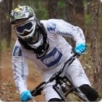 First photo of Sam Hill on the Nukeproof and CRC kit.