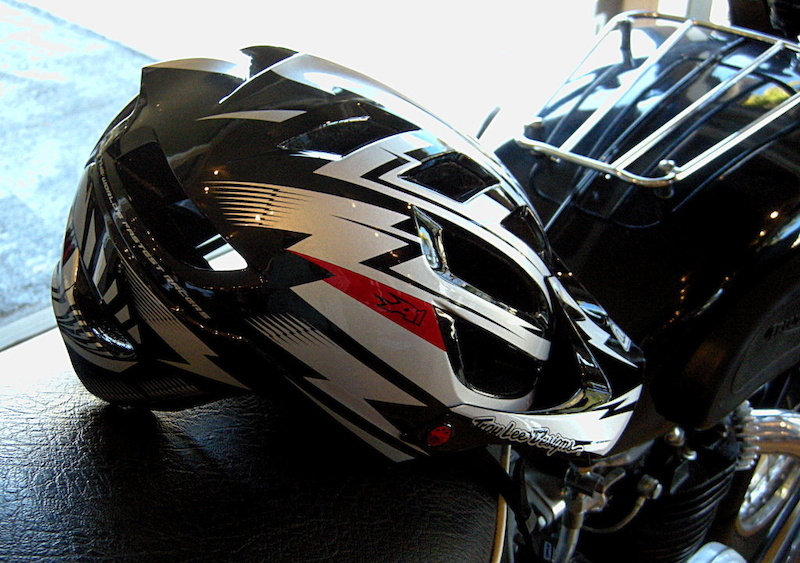 Troy Lee Designs A1 helmet in the black and silver version