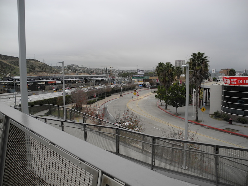 Looking south to the Tijuana pedestrian border