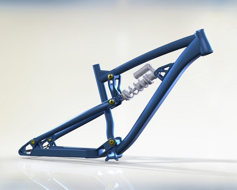Dartmoor-Bikes FR frame prototype.