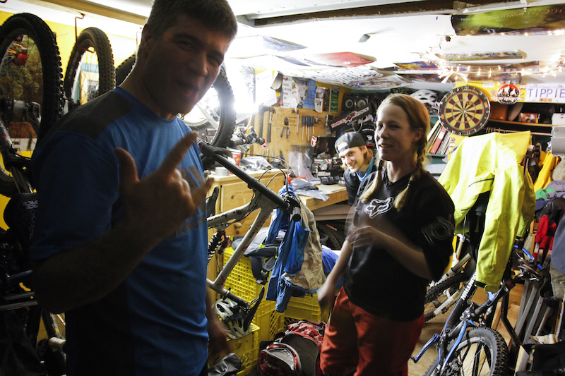 Preride prep in Tippie s man cave. Photo credit James Healey