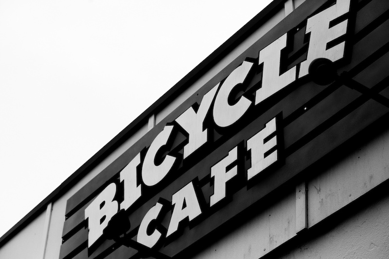 Chillin at the Bicycle Cafe. Matt Miles Photo.