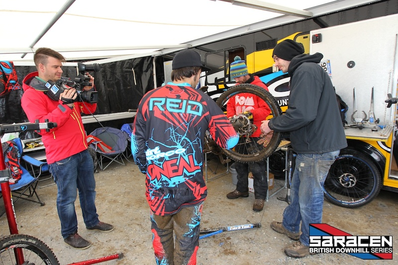 On location filming whats happening in the pits