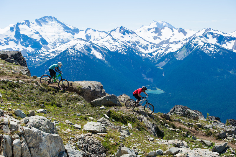 Epic Mountain Biking on the Whistler Bike Park s Top of the World Trail. Tourism Whistler Mike Crane