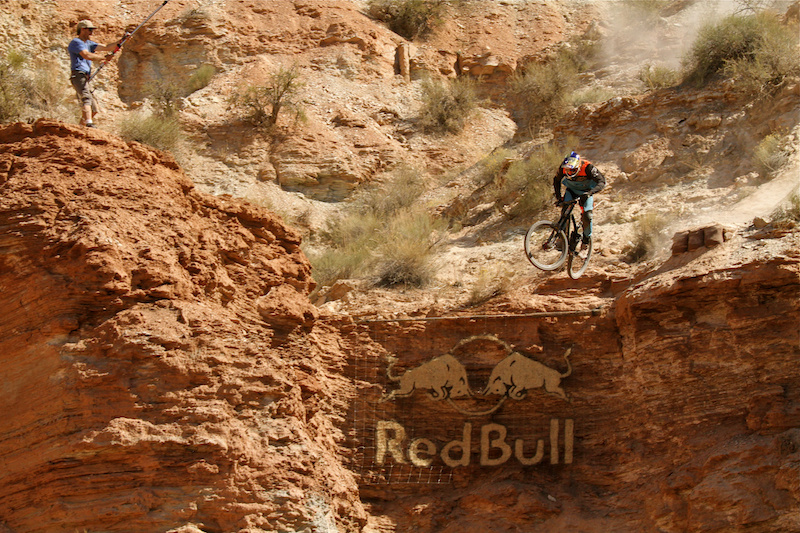 Brandon Semenuk hits his massive drop at Ramapge 2012