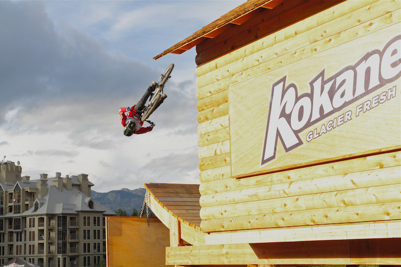 Cam Zink front flips off the Kokanee shed to win Teva Best Trick