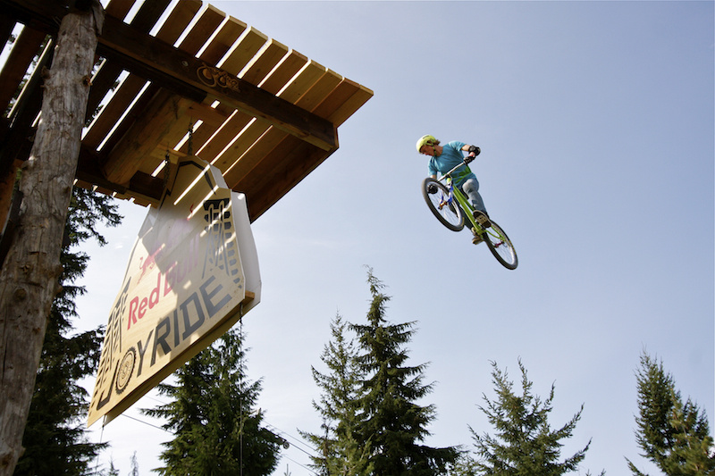 Thomas Genon Joyride winner 2012 spins the Red Bull drop.