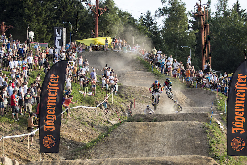 During round 4 of The 4X Pro Tour at JBC Bike Park Jablonec Czech Republic. 3August 2013 Photo Charles Robertson