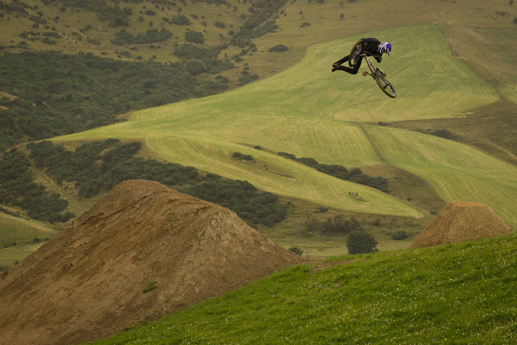 Brandon Semenuk on the Frew Farm in Winton New Zealand