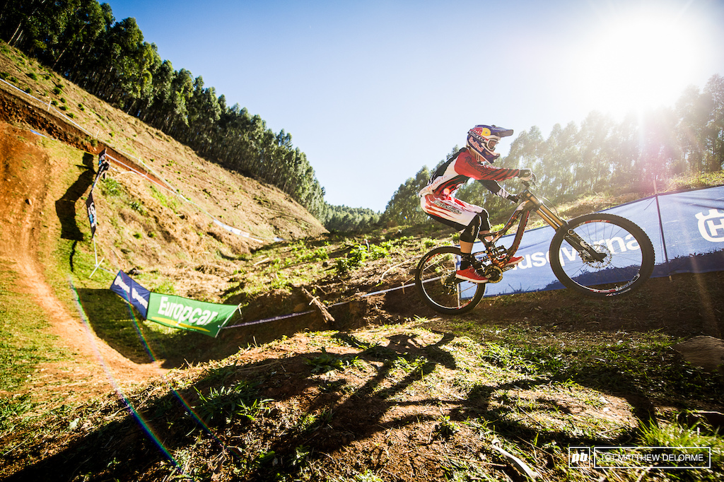This just hasn t been Gwin s year. A race run crash kept last years World Cup champ from the title.