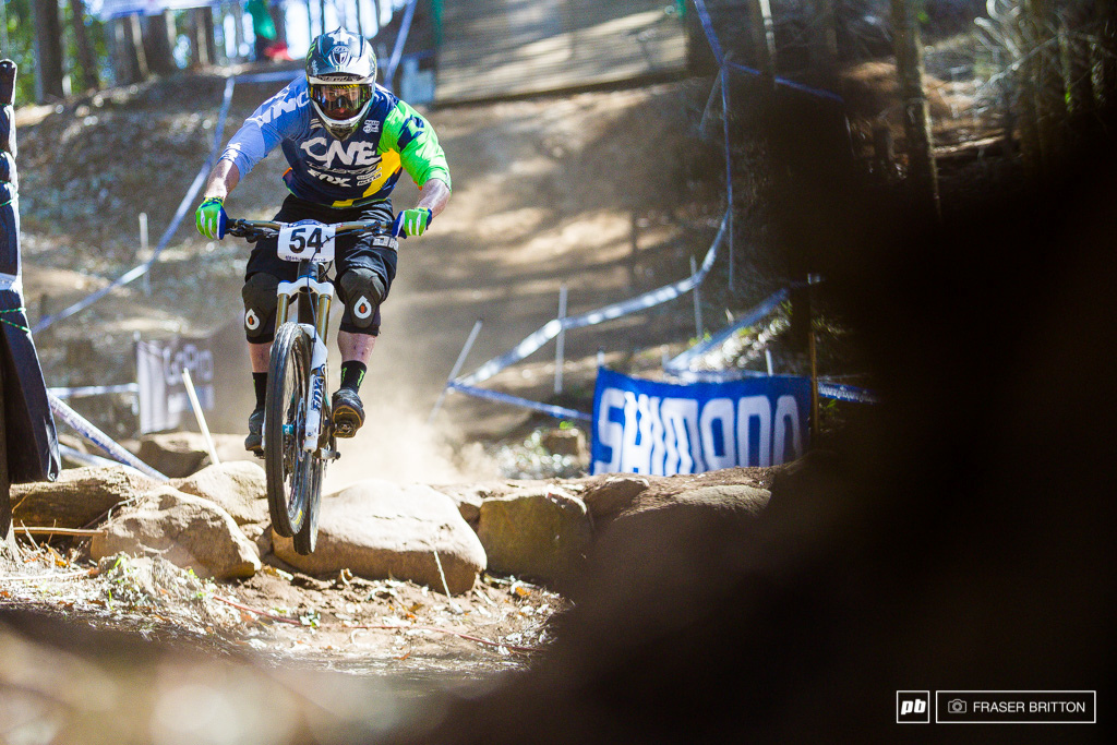Jared Graves started in DH moved to 4X olympic BMX Enduro and has come full circled this week taking home a bronze medal in the downhill all while riding his enduro bike. Way to go Stains