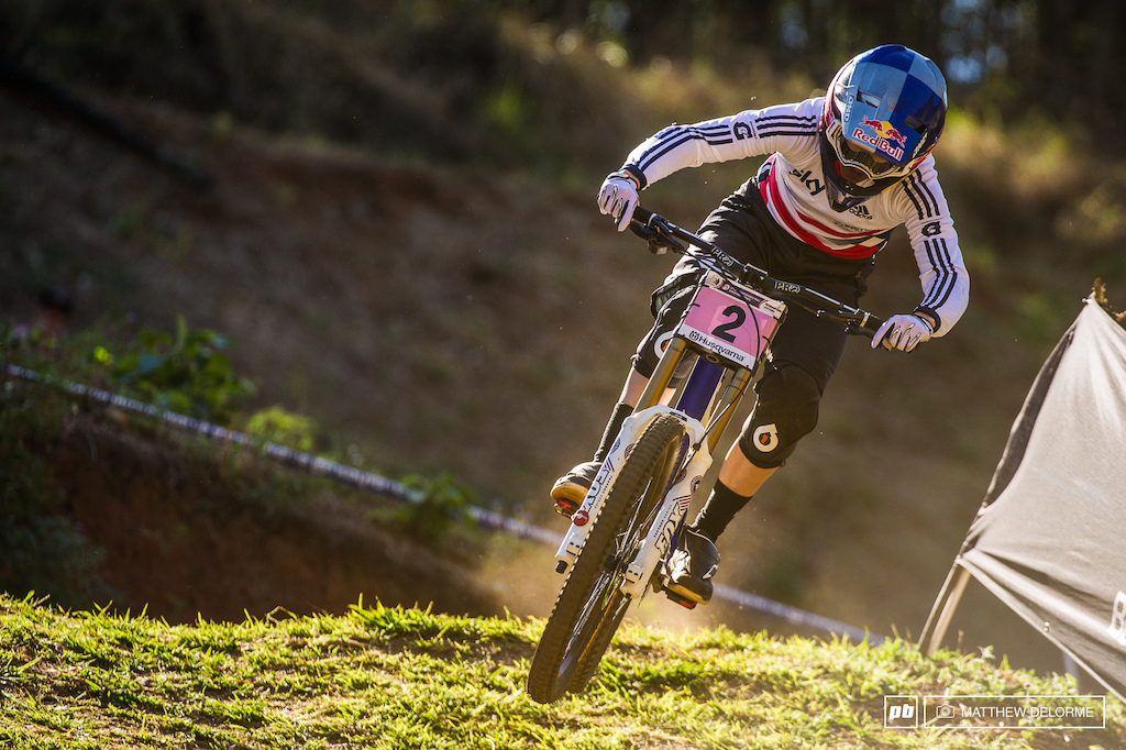 Rachel Atherton had no problems today riding her way to another title.