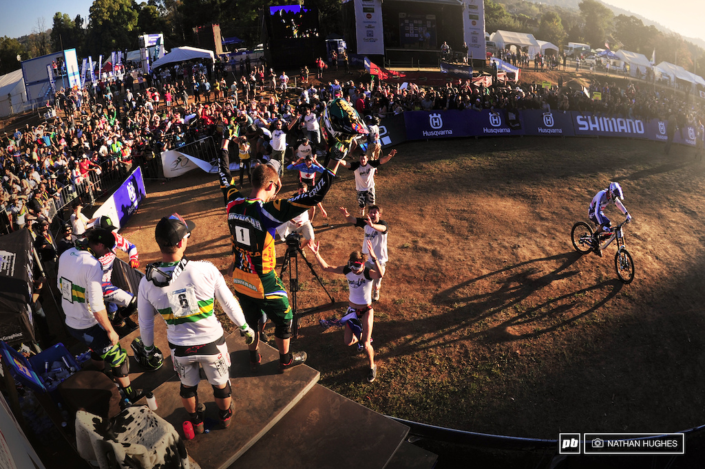 A long shadow and face to match for Atherton last rider down. The deal was done for GM.