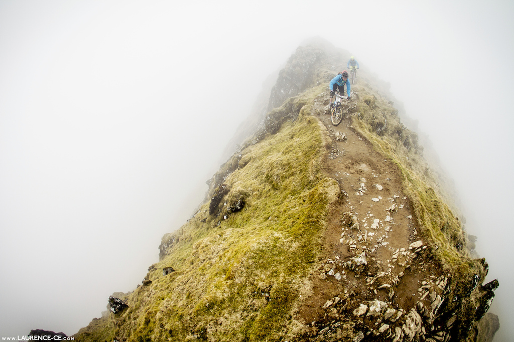 Unpredictable weather and extreme exposure can turn riding adventures into extreme situations. Knife edging along Rhyd Ddu on Snowdon became rather exciting - Laurence CE - www.laurence-ce.com